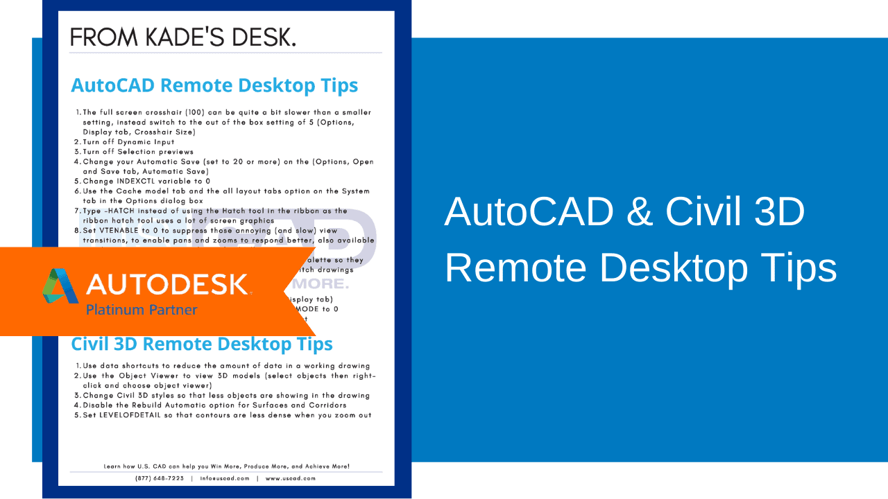 AutoCAD Civil 3D Remote Tips